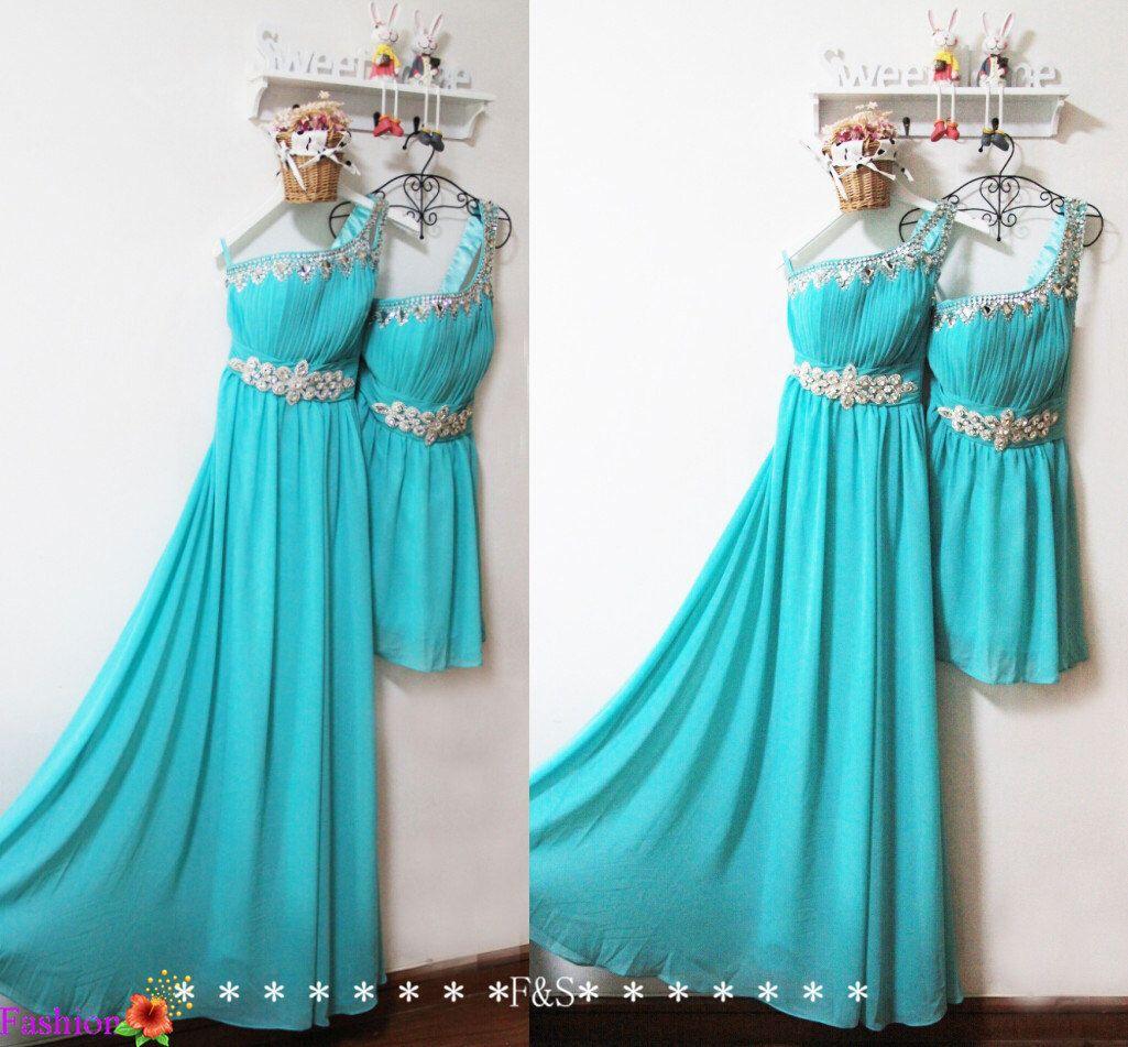 Prom dressestiffany blue bridesmaid dresssexy blue evening long