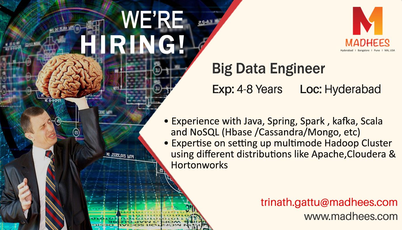 Job Opportunity BigData Engineer with 48 years