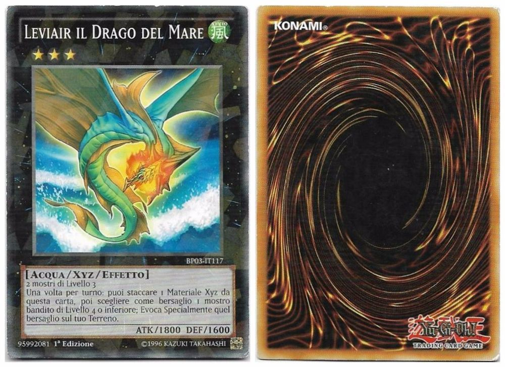 YU-GI-OH! LEVIAIR IL DRAGO DEL MARE BP03-IT117 SHATTERFOIL THE REAL_DEAL SHOP