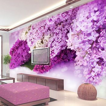 Buy TV Wall Painting Living Room Bedroom Wallpaper Backdrop Of Blue Flowers Modern Stereoscopic 3D Large Mural In Cheap Price On Alibaba