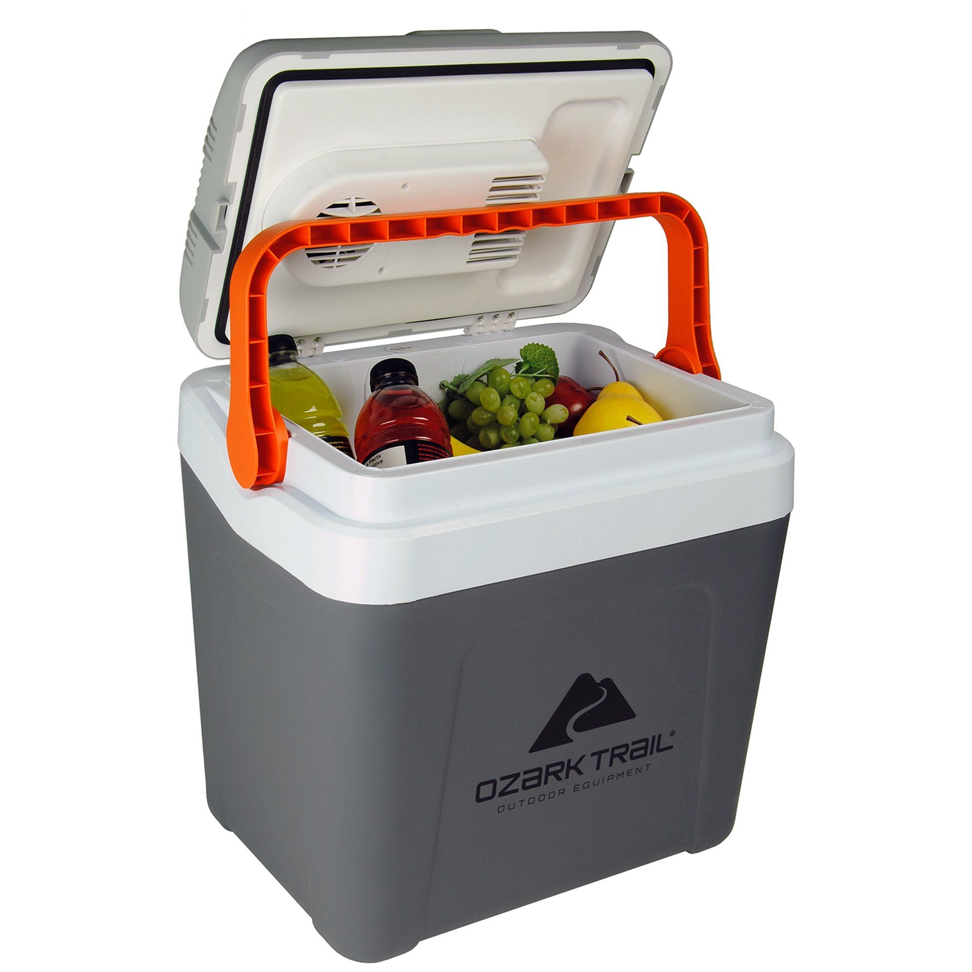 Ozark Trail Highline 26 Quart 12 Volt Electric Cooler 25l 30 Can Capacity Walmart Com In 2020 Ozark Ozark Trail Portable Cooler