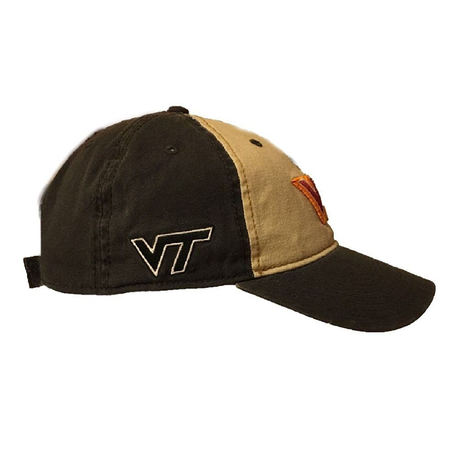 Virginia Tech Hokies Khaki and Black hat - C518756K5II - Hats   Caps ... 558fe97f7