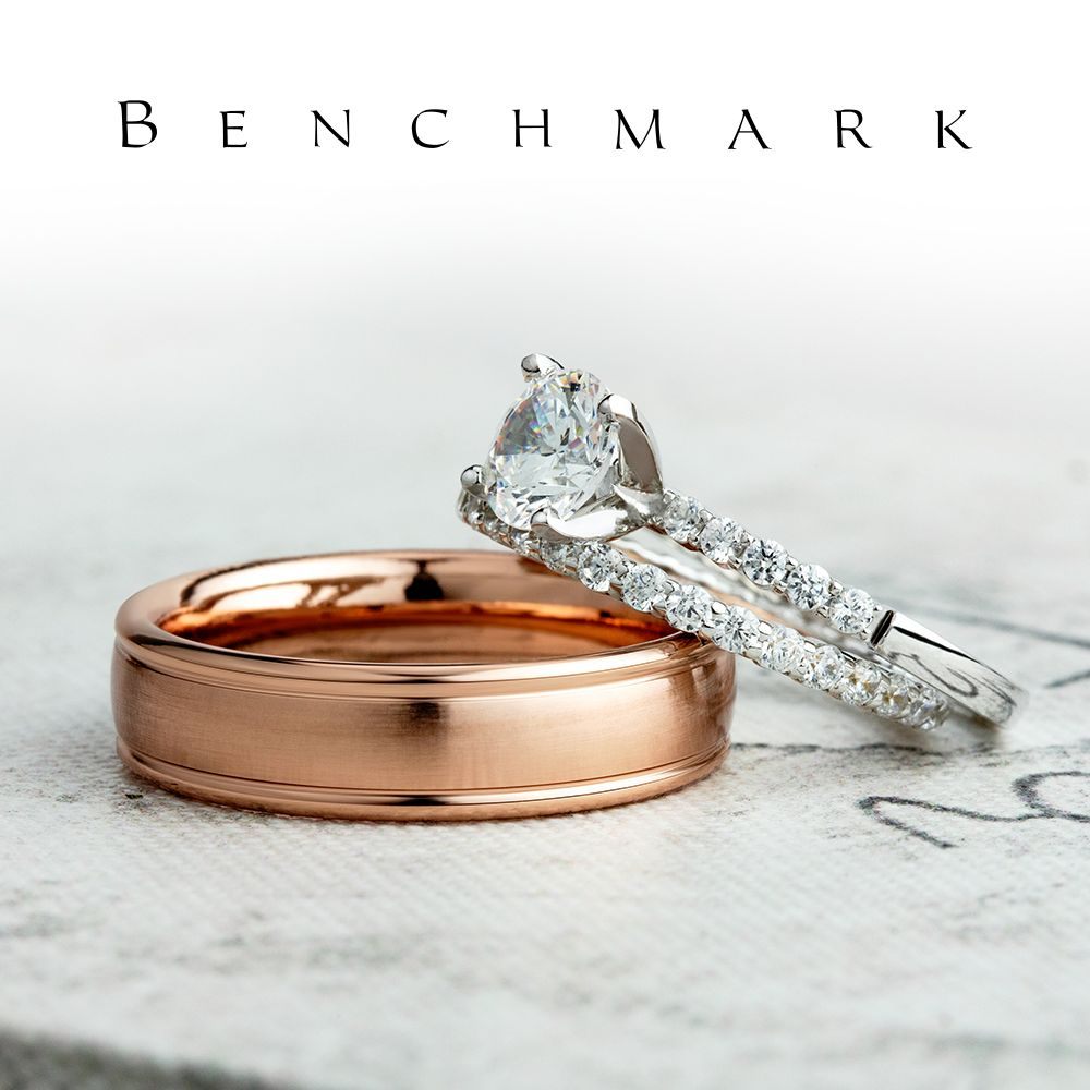 6mm Men S Rose Gold Wedding Ring With A Satin Center Recf7602s