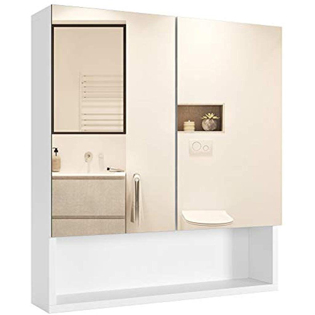 Homfa Spiegelschrank Wandspiegel Badezimmerspiegel Hangeschrank Badschrank Wandschrank Spiegel Mit Abla In 2020 Spiegelschrank Hangeschrank Badezimmerspiegel