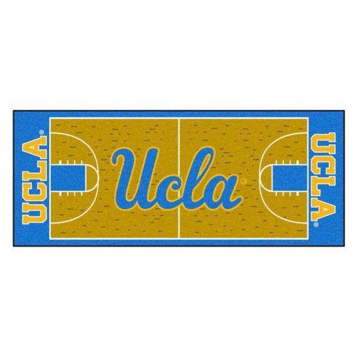 Ucla Bruins Basketball Court Runner Rug Carpet Living Room Rugs Collections In 2021 Ucla Basketball Indoor Basketball Court Ucla