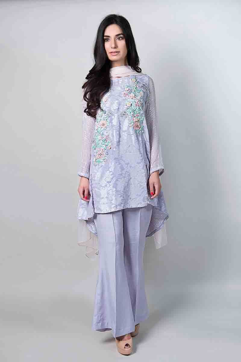 31a260513b latest light blue short shirt with matching dupatta and trousers latest  maria b fancy party wear eid dresses 2017 with price for girls