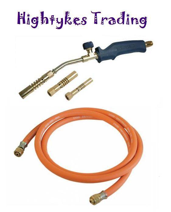Silverline Brazing Soldering Gas Burner Propane Torch Paint Striping Gas Hose Silverline