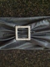 140 Charcoal Spandex Chair Cover Sashes