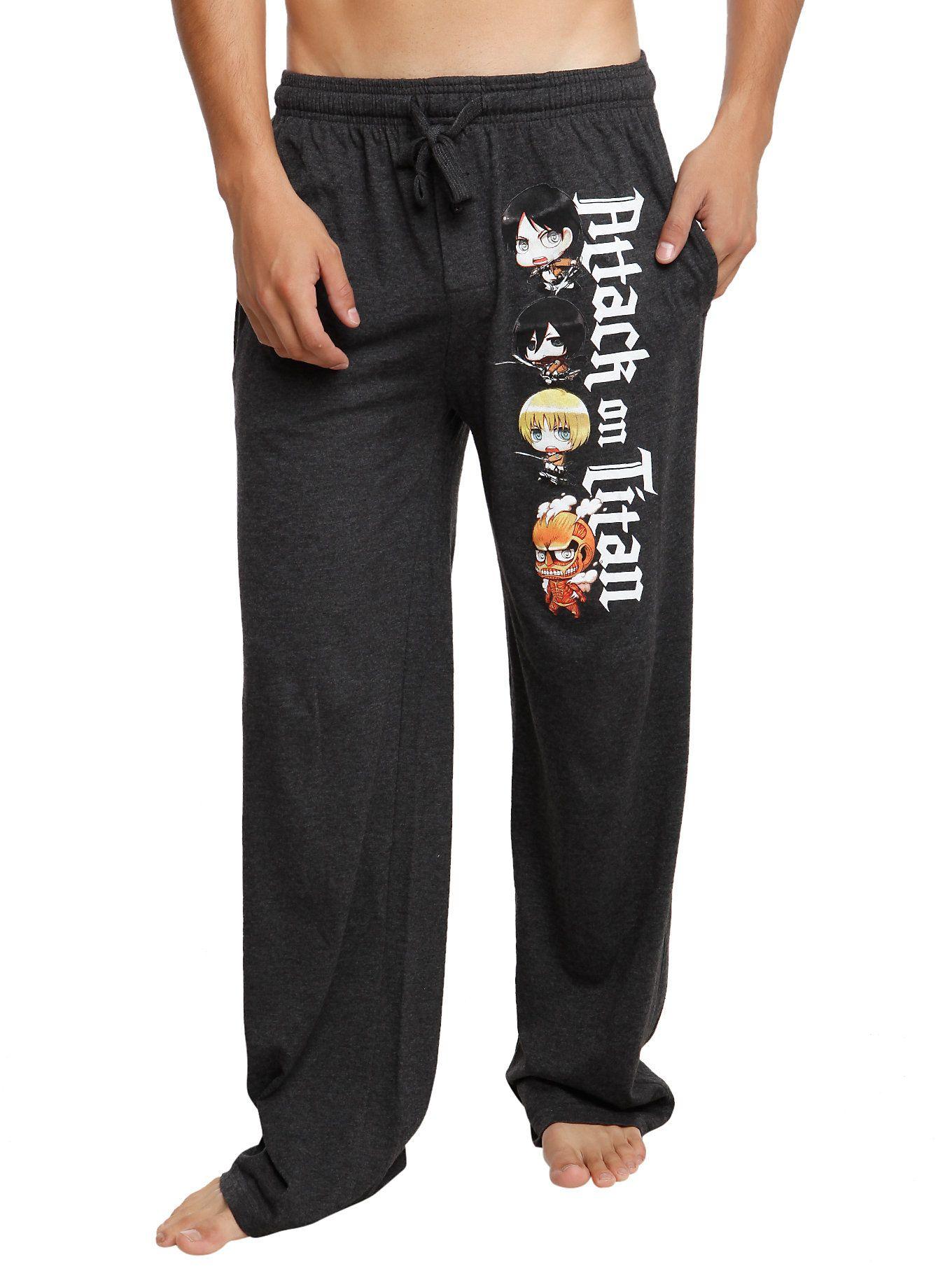 On Titan Chibi Guys Pajama Pants