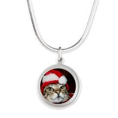 Santas Helper Cat Necklaces> Flamin Cat Designs - so cute! meow!