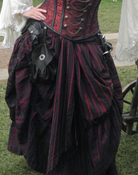 KOSTÜMTRUHE | Verkauf & Versandhandel, mittelalterliche Kleidung, Kostüme & Gewandungen, Zubehör aus Ritterzeit und Piratentum - viktorianischer Streifen Rock