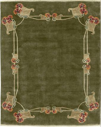 An Archibald Knox carpet - The Bromley