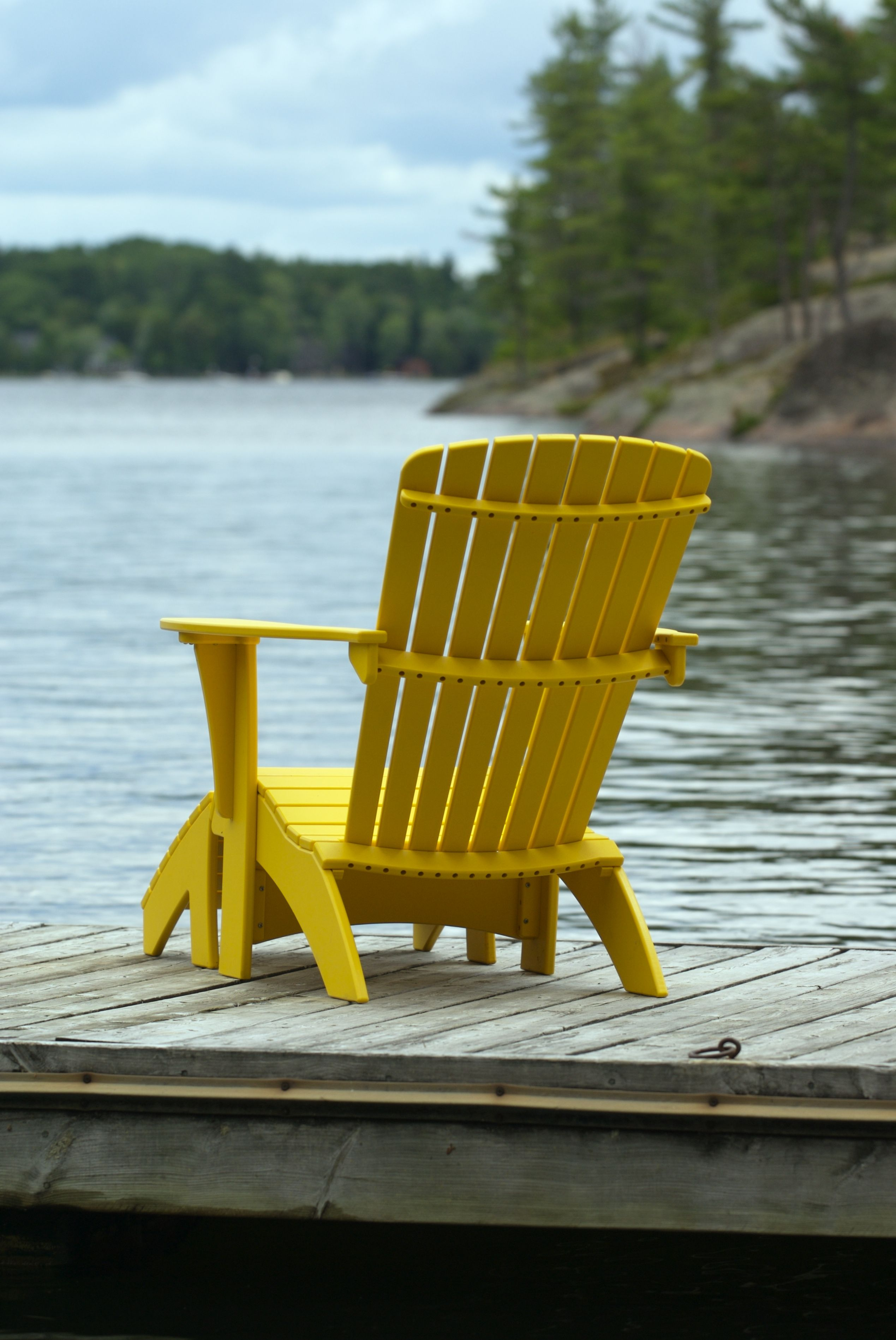 Morning Sun Muskoka Chair  Extension  At the Lake