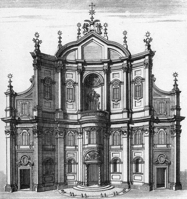 Scala Regia Inspirational Archives: Francesco #Borromini architect - Oratorio Dei Filippini - #Baroque concave facade Rome - 1637-1650 construction