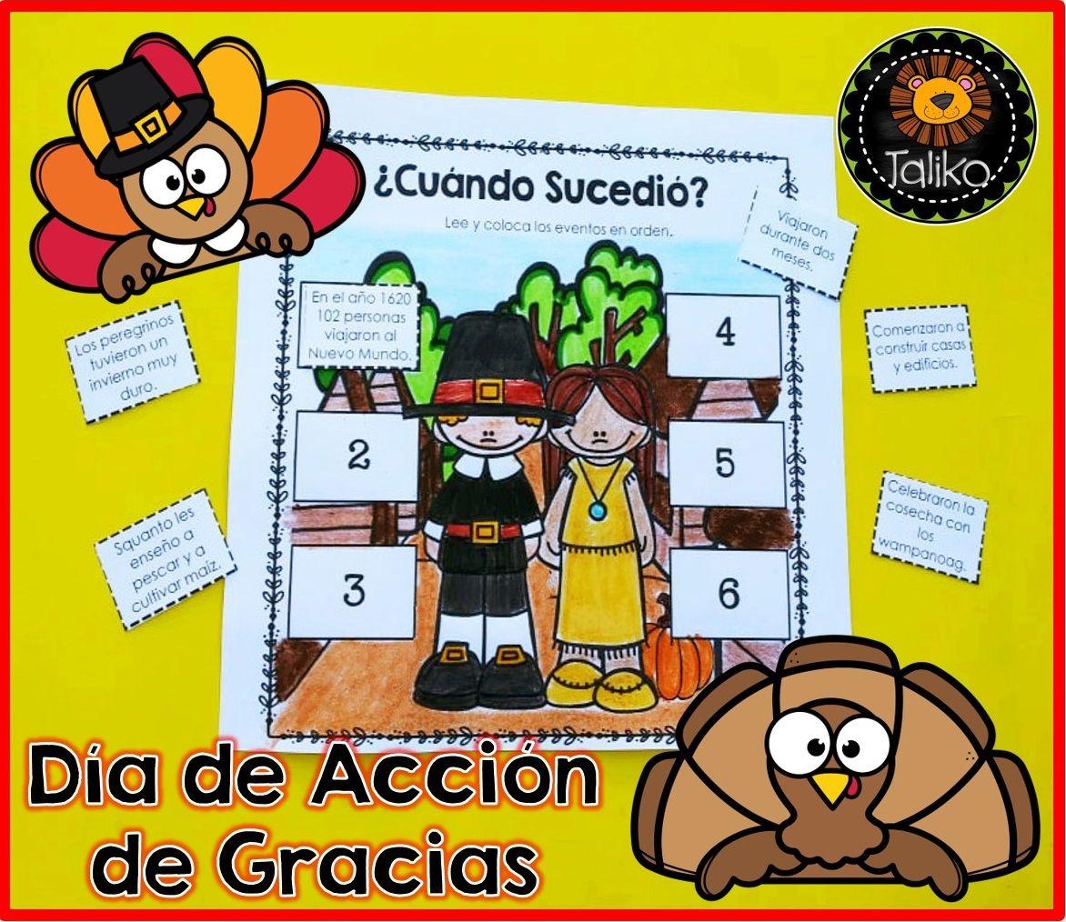 Spanish Thanksgiving Dia De Accion De Gracias With
