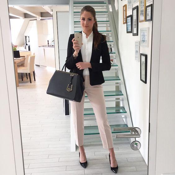 impactful outfit entrevista laboral mujer de