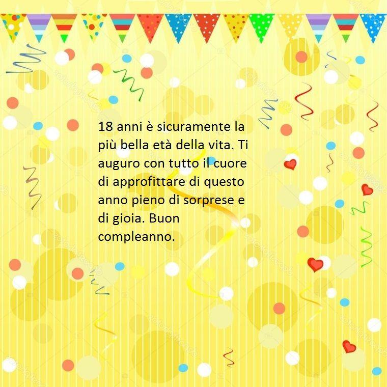 Proposta Di Frasi Belle Buon Compleanno Da Dedicare Ad Un Diciottenne Augurando Sorprese E Gioia Buon Compleanno Compleanno Auguri Di Compleanno