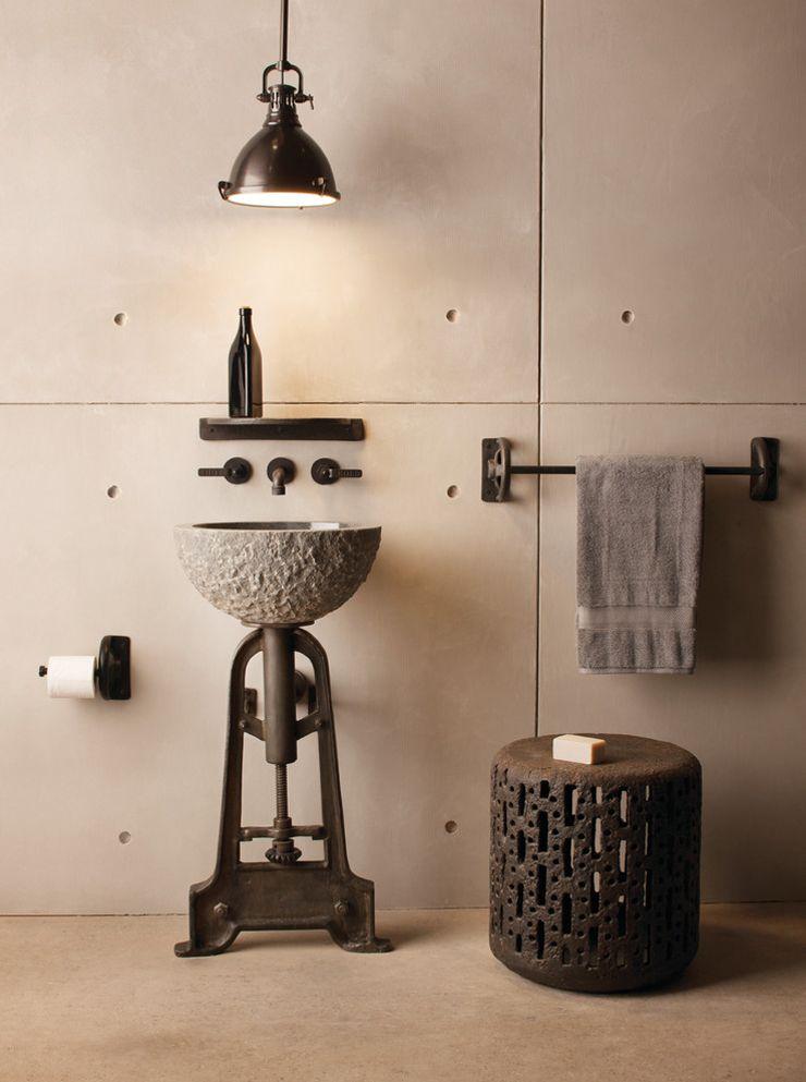 Créative et originale salle de bain au design industriel | Design ...