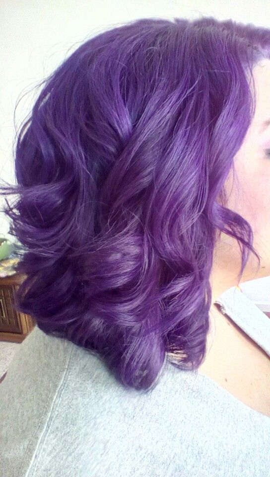 Prev Next Purple Hair Color Medium Pravana Short Violet