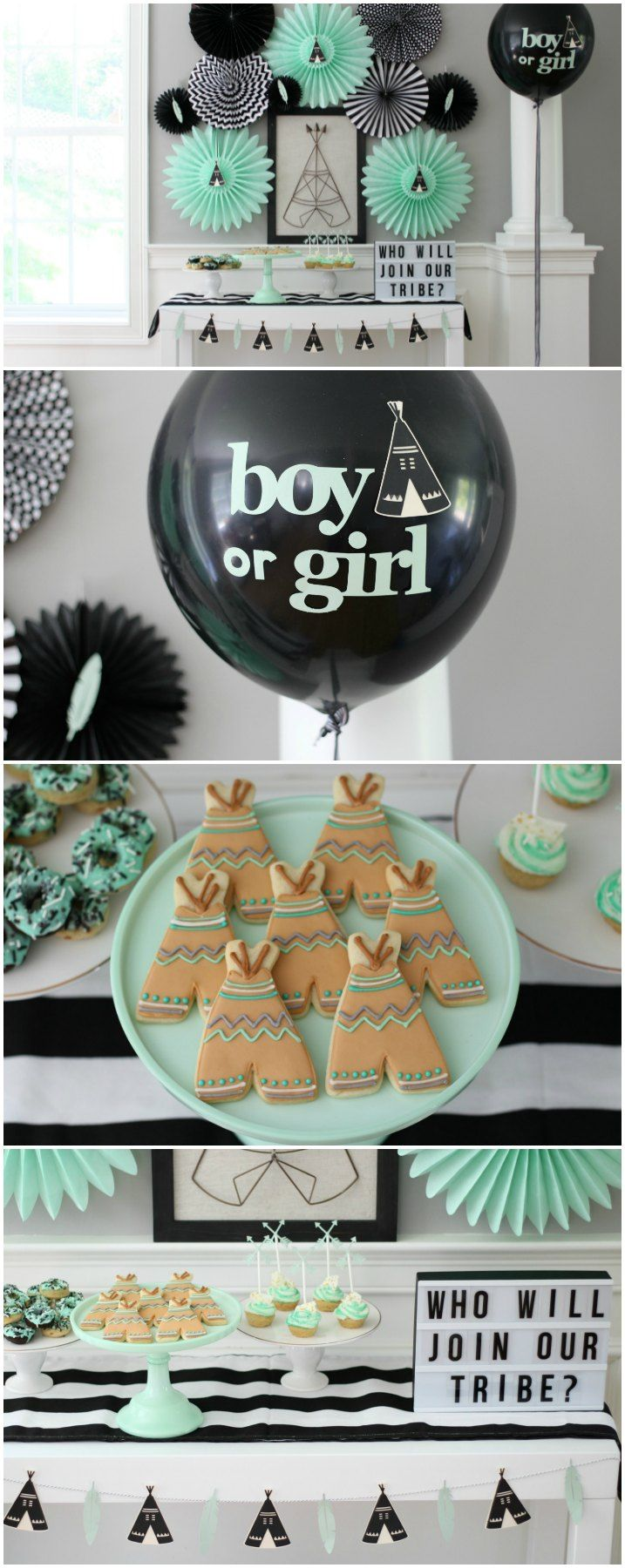 Who Will Join Our Tribe Gender Reveal Party Ideas