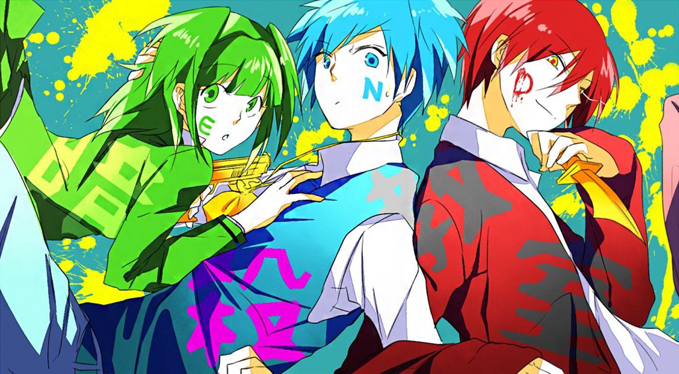 Kaede Nagisa And Karma Computer Wallpapers Desktop Backgrounds 1391x768 Id 606973 Assassination Classroom Assasination Classroom Anime