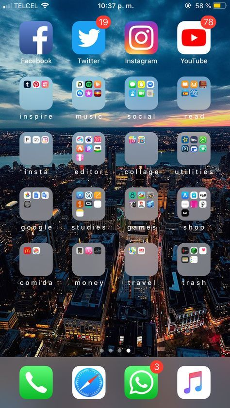 Home screen organization iphone aesthetic 32+ super Ideas