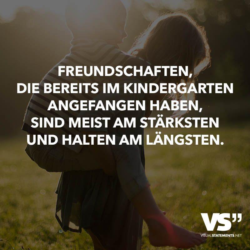 Freundschaften, die bereits im Kindergarten angefangen haben, sind