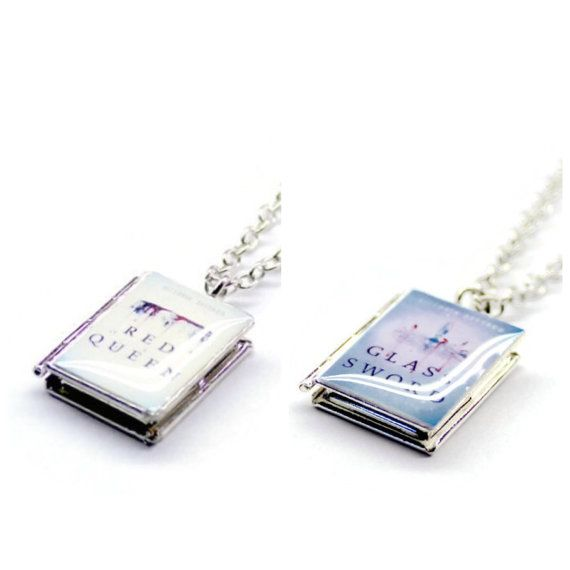 Red Queen Series Book Necklace Red Queen Victoria Aveyard Red