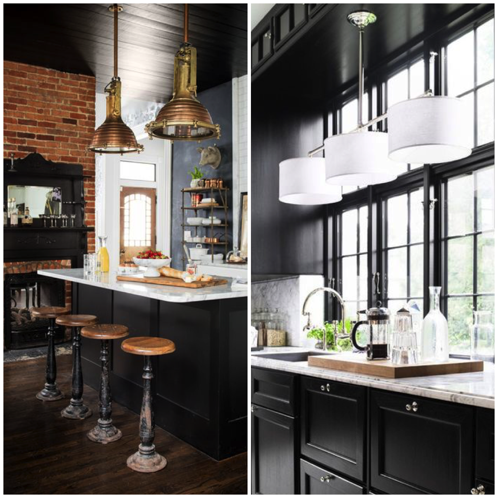 10 Accent Colors That Will Make Your Kitchen Pop Big Chill Black Walls Kitchen Beautiful Kitchens Elegant Home Decor