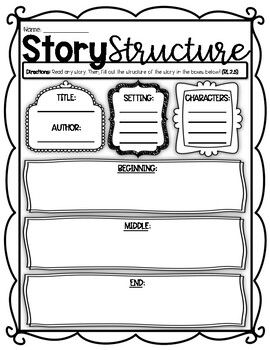 (((2 PAGES))) Story Elements and Story Structure Graphic