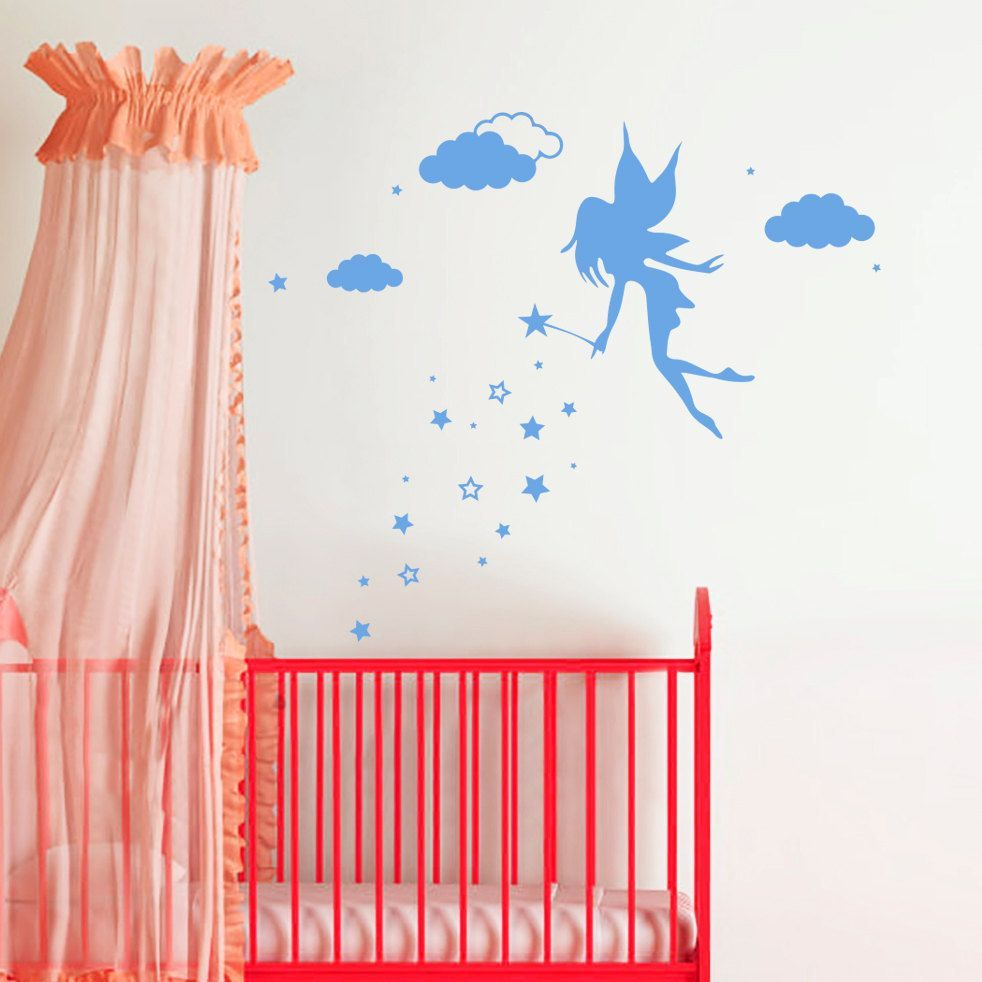 Fairy Magic Wand Wall Art Sticker Decal