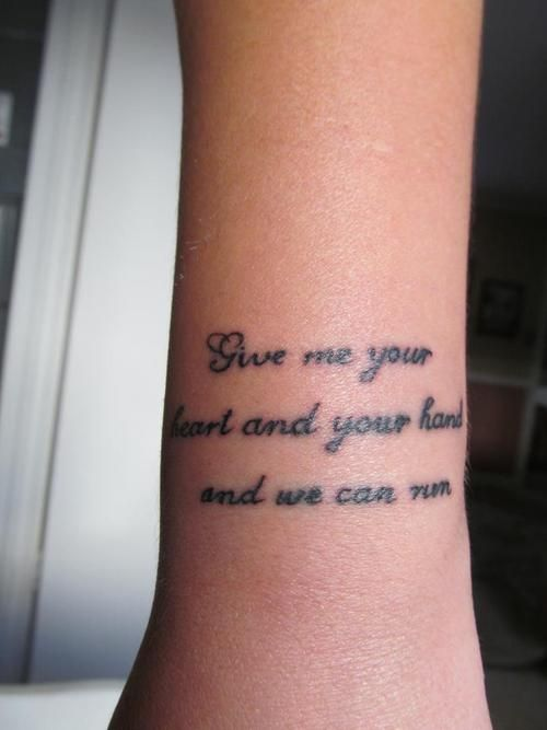 Million Dollar Houses! I adore this song and this tattoo. :D