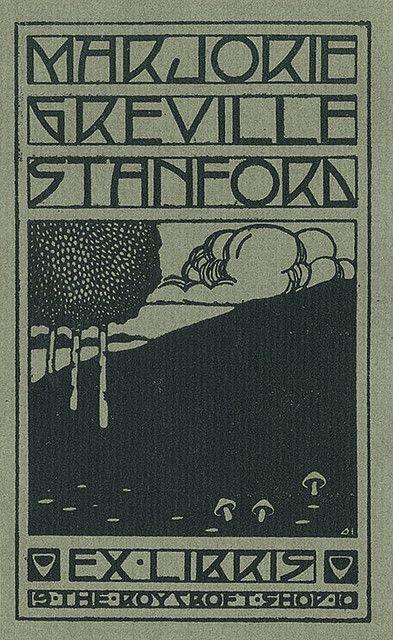Ex Libris ~ The RoyCroft Shop ~ Majorie Greville Stanford bookplate