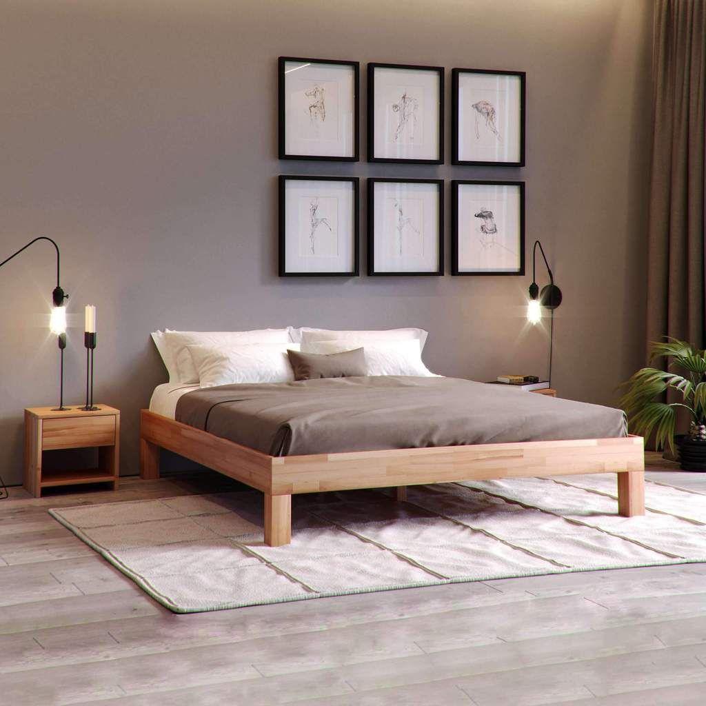 Massivholzbett Jana Buche Massivholzbett Schlafzimmer Inspiration Schlafzimmer Einrichten