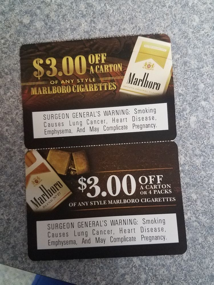 Marlboro cigarette coupons: $2 04 (5 Bids) End Date