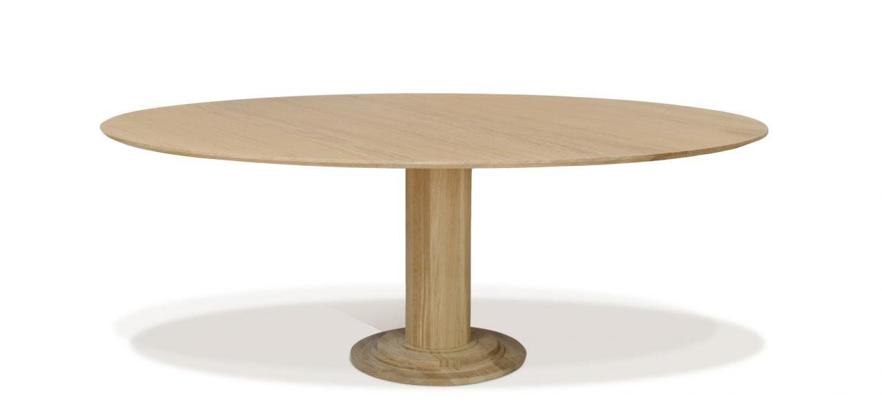 Discus Oval Dining Table Extending From A Round Table