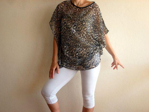SALE % 25 Off Animal Print Dress Women Kimonos Beach by bysweetmom