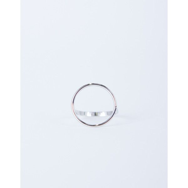 Loop Around Ring ($6) ❤ liked on Polyvore featuring jewelry, rings, silver, circle jewelry, silver circle ring, silver jewelry, silver rings and silver jewellery