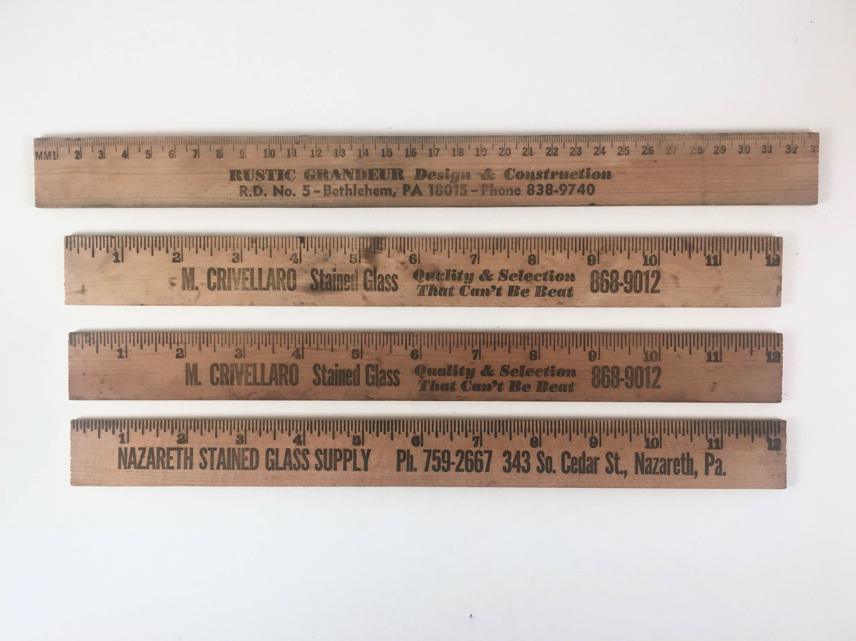 wood advertising rulers vintage 4 wooden rulers three