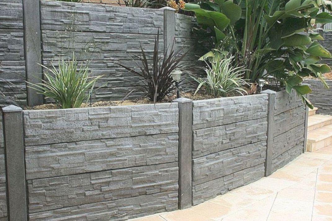 Concrete Retaining Wall Ideas Concrete Retaining Wall Ideas Design Ideas And Photo In 2020 Concrete Retaining Walls Garden Retaining Wall Landscaping Retaining Walls