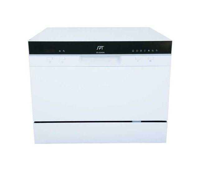 Spt 22 Tabletop Portable Dishwasher White Larger Front Portable Dishwasher Dishwasher White Cool Things To Buy