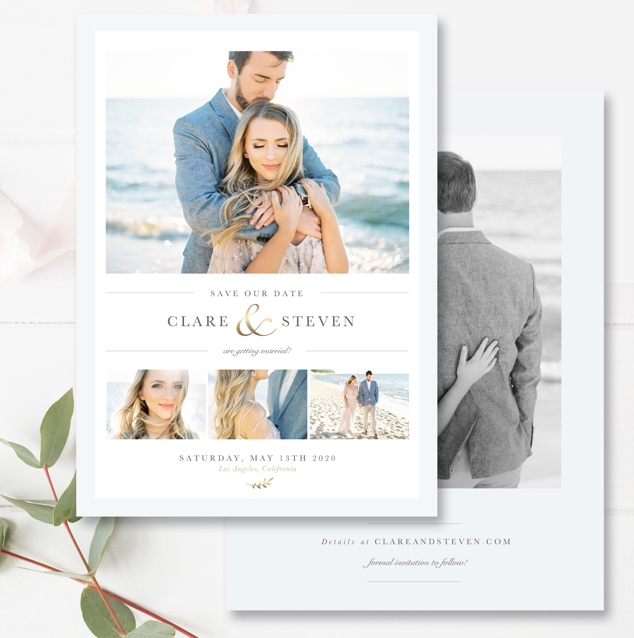 Save The Date Card Engagement Announcement Card Matching 4x6 Etsy Engagement Announcement Cards Photoshop Template Engagement Announcement