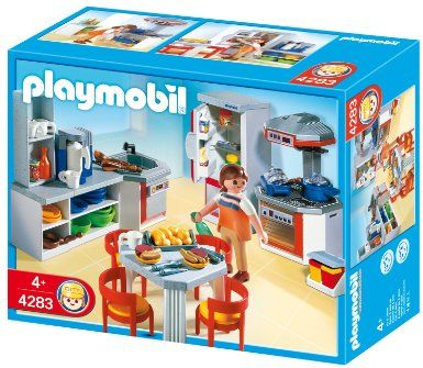 Perfect For A Shoebox Dollhouse Playmobil Kitchen With Dinnette Set Toys Games Playmobil Toys Playmobil Sets