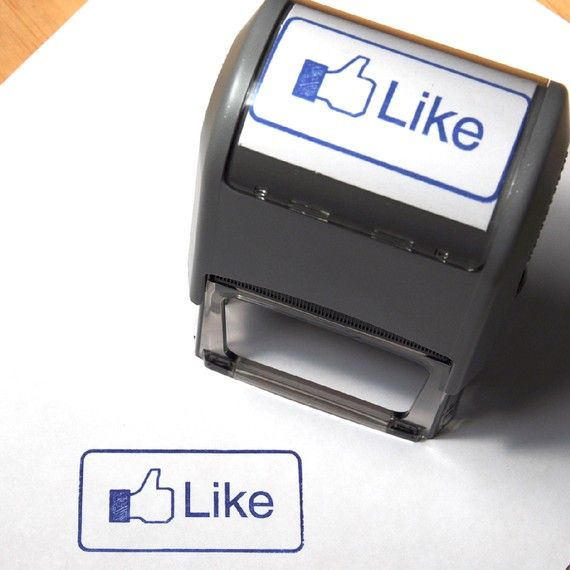 Large Self-Inking Facebook Inspired Like Stamp for People Who Like Things $15.95