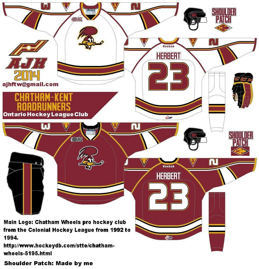 Roadrunner Sports logo, Hockey uniforms, Pro hockey