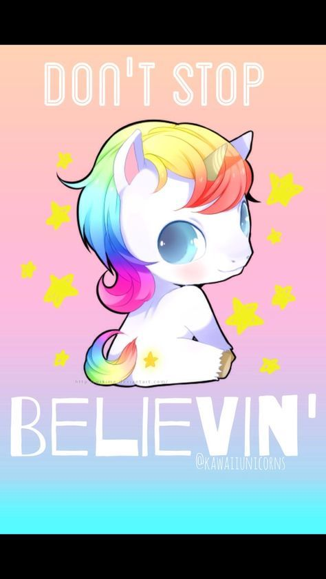 I Thought This Was Awesome For All The Gleeks Out There First Of All Don T Stop Believing Is The Most Amazi Unicorn Wallpaper Baby Unicorn Unicorn Pictures