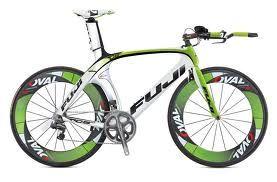 Fuji Tri-bike in crazy green and black.