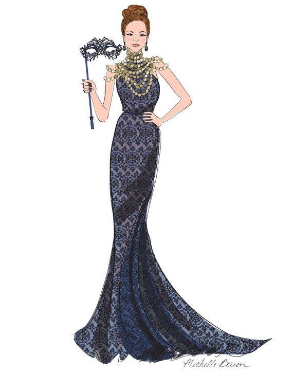Formal Dress Illustration