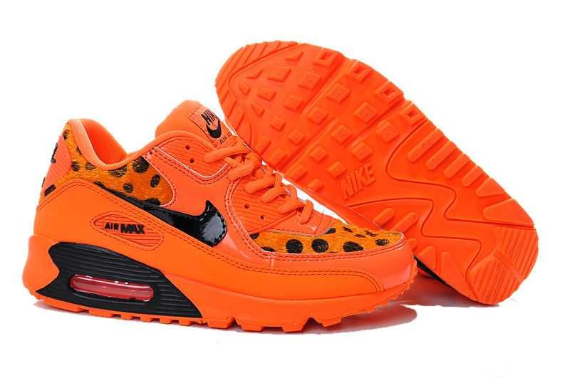 1767 : Nike Air Max 90 Dam Svart Orange SE237730unUaigwqg