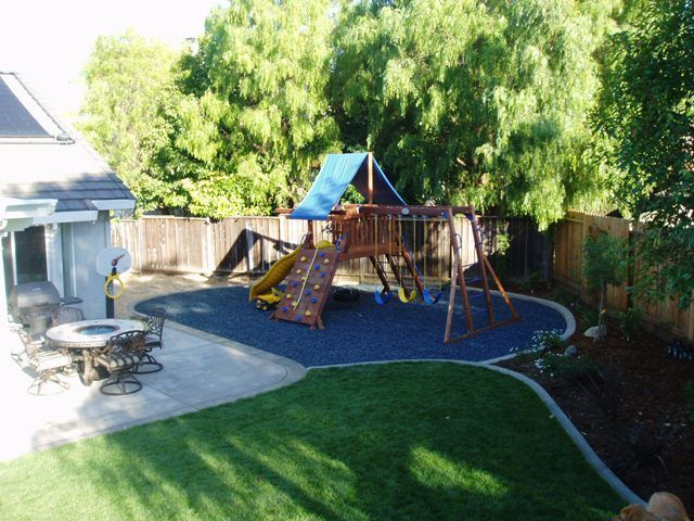 Rubber Bark By Ground Cover Mulch Shredded Playground Play